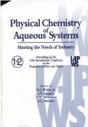 Cover of: Physical chemistry of aqueous systems