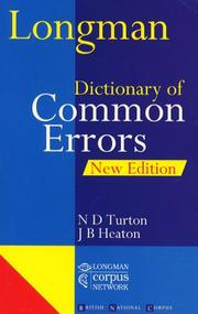 Cover of: Longman Dictionary of Common Errors (Dictionary) |