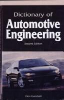 Cover of: Dictionary of Automotive Engineering