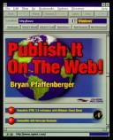 Cover of: Publish it on the Web!