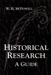 Cover of: Historical research