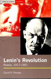 Cover of: Lenin's revolution