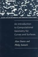 Cover of: An introduction to computational geometry for curves and surfaces