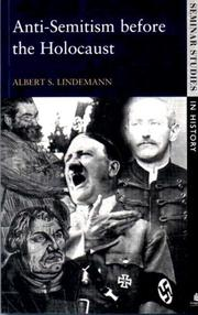 Cover of: Anti-Semitism Before the Holocaust