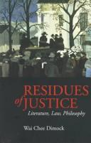 Residues of justice by Wai-chee Dimock