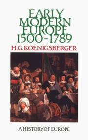 Cover of: Early modern Europe, 1500-1789