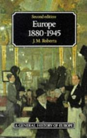 Europe, 1880-1945 by Roberts, J. M.
