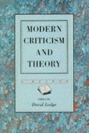 Cover of: Modern Criticism and Theory