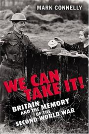 Cover of: We can take it!: Britain and the memory of the Second World War
