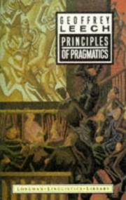 Cover of: Principles of pragmatics by Geoffrey N. Leech