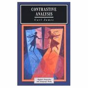 Cover of: Contrastive analysis