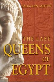 Cover of: The Last Queens of Egypt | Sally-Ann Ashton