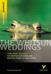 "Cover of: The ""Whitsun Weddings"" and Selected Poems"