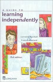 Cover of: A Guide to Learning Independently (3rd Edition) | Lorraine Marshall