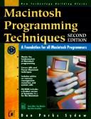 Cover of: Macintosh programming techniques