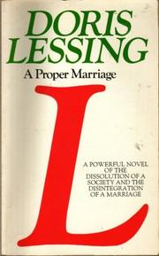 Cover of: A Proper Marriage (Children of Violence)