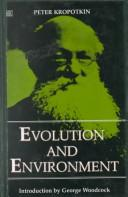 Cover of: Evolution and environment