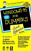 Cover of: Windows 95 for dummies quick reference | Greg Harvey