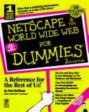 Cover of: Netscape and the World Wide Web for dummies | Hoffman, Paul