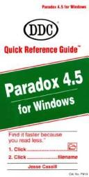 Cover of: Paradox 4.5 for Windows