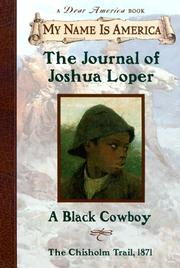 Cover of: The journal of Joshua Loper: a Black cowboy