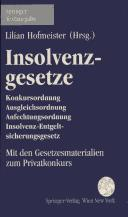 Cover of: Insolvenzgesetze