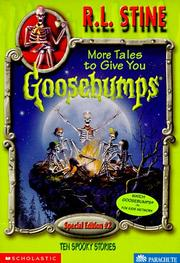 Cover of: More Tales to Give You Goosebumps