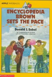 Cover of: Encyclopedia Brown Sets The Pace (Encyclopedia Brown)
