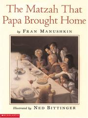Cover of: The Matzah That Papa Brought Home (Passover Titles)