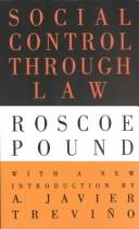Cover of: Social control through law