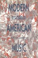 Cover of: Modern American music
