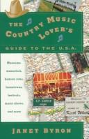 Cover of: The country music lover's guide to the U.S.A