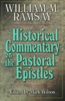 Cover of: Historical commentary on the Pastoral Epistles