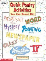 Cover of: Quick Poetry Activities (Grades 2-5)