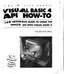Cover of: Visual Basic 4 API how-to