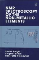 Cover of: NMR spectroscopy of the non-metallic elements