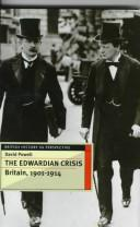 Cover of: The Edwardian crisis