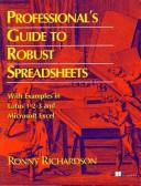 Professionals guide to robust spreadsheets