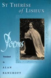 Cover of: Poems of st Therese of Lisieux