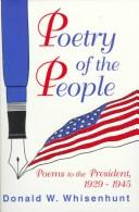 Poetry of the people by Donald W. Whisenhunt