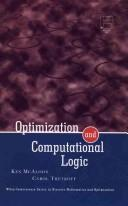 Cover of: Optimization and computational logic
