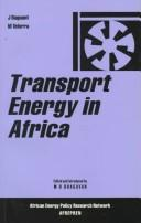 Cover of: Transport energy in Africa