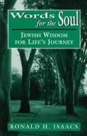 Cover of: Words for the soul: Jewish wisdom for life's journey