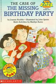 Cover of: The case of the missing birthday party