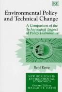 Cover of: Environmental policy and technical change