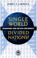 Cover of: Single world, divided nations?
