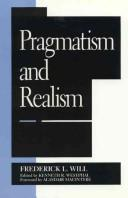 Cover of: Pragmatism and realism