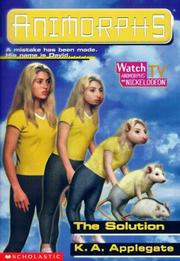 Cover of: The Solution (Animorphs)