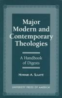 Cover of: Major modern and contemporary theologies