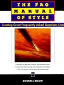 Cover of: The FAQ manual of style